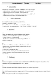 - Problèmes - Ce2 - Exercices - Cycle 3  Proportionnalité - Échelles