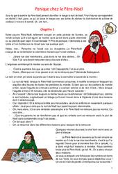 Panique chez le Père-Noël - Ce2 - Cm1 - Cm2 - Conte de noël