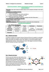 Quelles caractéristiques possèdent les transformations du noyau atomique? – 3ème – Activité documentaire avec les corrections