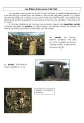L'art et la pensée - Préhistoire - Exercices - Ce2 -  Cycle 3