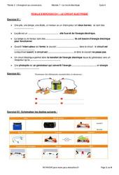 Le circuit électrique, ses différents types et la sécurité – 5ème – Exercices avec les corrections