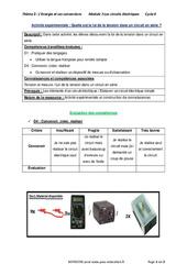 Quelle est la loi de la tension dans un circuit en série? - 4ème - Activité expérimentale avec les corrections
