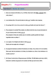 Notion de ratio – 5ème – Proportionnalité – Exercices avec correction