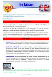 In town – CM1 – CM2 – Anglais – Lexique – Séquence complète – Cycle 3