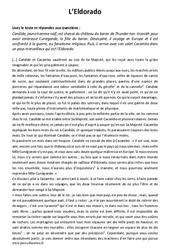 L'Eldorado – 5ème – Récit – Lecture
