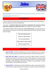 Jobs - CE1 - CE2 - Anglais - Lexique - Séquence complète - Cycle 2