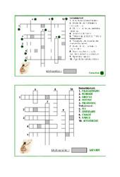 Mots croisés préhistoire - Exercices -  Ce2 -  Cycle 3