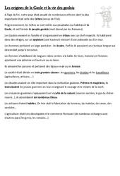Origines de la Gaule et la vie des gaulois - Leçon - Antiquité - Ce2 - Cycle3