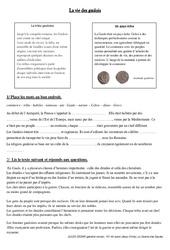 Vie des gaulois - Exercices - Antiquité - Ce2 - Cycle3: Document, questionnaire et correction