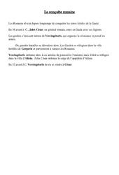 Conquête de la Gaule par les romains – Antiquité: Leçon – Ce2 – Cycle3