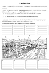 Bataille d'Alésia – Antiquité – Exercices – Ce2 – Cycle3
