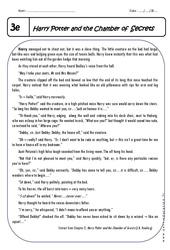 Harry Potter – 3ème – Lecture compréhension en anglais