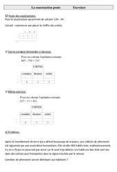 Soustraction posée  – Ce2 – Exercices à imprimer