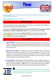 Time – CM1 – CM2 – Anglais – Lexique – Séquence complète – Cycle 3