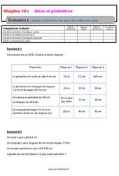 Calculer le périmètre d'une figure, dans différentes unités - 5ème - Evaluation, bilan, contrôle avec la correction