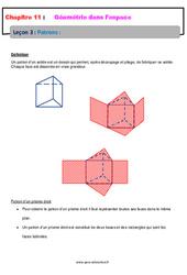 Patrons - 5ème - Géométrie dans l'espace - Cours