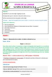 La lettre m devant m, b, p – Ce2 – Étude de la langue – Fiche de préparation