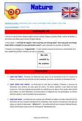 Nature – CE1 – CE2 – Anglais – Lexique – Séquence complète – Cycle 2