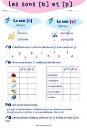 Confusion entre les sons [b] et [p] - CP - CE1 - Exercices de phonologie avec les corrections