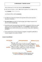Dictionnaire – Chercher un mot – Ce2 – Leçon