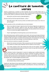 La confiture de tomates vertes – Ce2 – Récit – Lecture