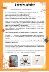 L'arachnophobie– CE2 – Lecture documentaire