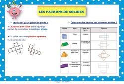 Les patrons de solides - Cycle 2 - Affiche
