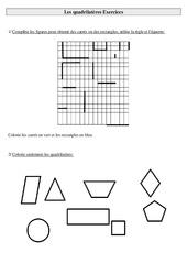 Quadrilatères – Ce2 – Exercices