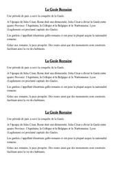 La Gaule Romaine – Leçon sur l'antiquité – Ce2 – Histoire – Cycle3