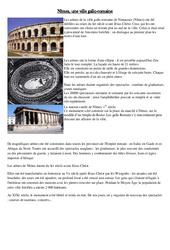 Nîmes – une ville gallo romaine – Lecture documentaire avec questions et correction sur l'antiquité au ce2 cycle 3