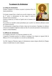 Naissance du christianisme - Antiquité - Ce2 : Leçon - Histoire - Cycle 3