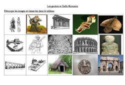Gaulois – Gallo Romains – Antiquité –  Ce2 –  Cycle 3: Exercices en image