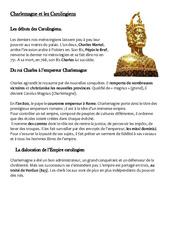 Charlemagne et les Carolingiens – Leçon – Moyen âge – Cm1 – Cycle 3