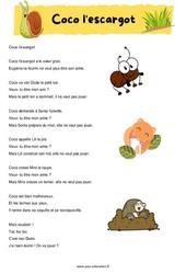 Coco l'escargot - CE1 - CE2 - Fable - Récit - Lecture