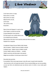 L'âne Vladimir – CM1 – CM2 – Fable – Récit – Lecture