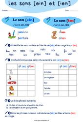Confusion entre les sons [ein] et [ien] - CP - CE1 - Exercices de phonologie avec les corrections