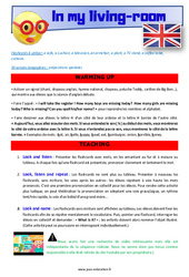 In my living-room – CE1 – CE2 – Anglais – Lexique – Séquence complète – Cycle 2