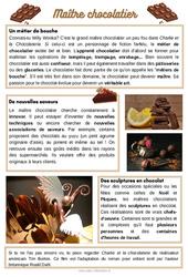 Maître chocolatier – CE1 – CE2 – CM1 – Lecture documentaire