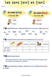 Confusion entre les sons [ain] et [ian] - CP - CE1 - Exercices de phonologie avec les corrections