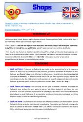 Shops - CE1 - CE2 - Anglais - Lexique - Séquence complète - Cycle 2