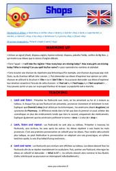 Shops – CM1 – CM2 – Anglais – Lexique – Séquence complète – Cycle 3