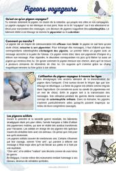 Les pigeons - CE1 - CE2 - CM1 - Lecture thématique