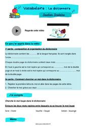 Le dictionnaire - CM1 - Soutien scolaire pour les élèves en difficulté.