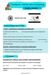 Chercher dans le dictionnaire – CM2 – Soutien scolaire pour les élèves en difficulté.