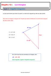 Inégalité triangulaire – 5ème – Cours