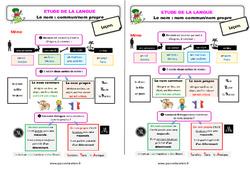 Le nom : nom commun / nom propre – Ce2 – Étude de la langue – Leçon