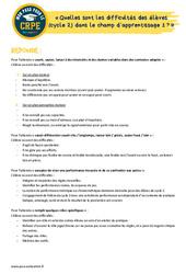 Quelles sont les difficultés des élèves (cycle 2) dans le champ d'apprentissage 1? - EPS - CRPE2022