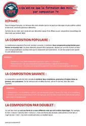 Qu'est-ce que la formation des mots par composition?» - CRPE2022
