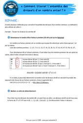 Comment trouver l'ensemble des diviseurs d'un nombre entier? - CRPE