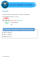 Que signifie développer une expression? - CRPE2022
